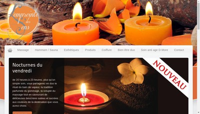Site internet de L'Empreinte des Sens