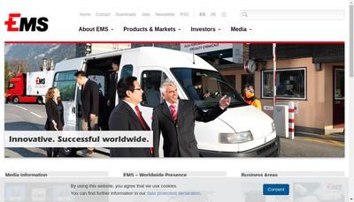 Site internet de Ems Chemie(France)SA