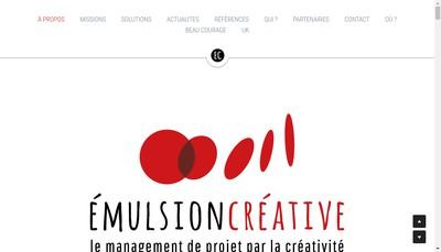 Site internet de Emulsion Creative