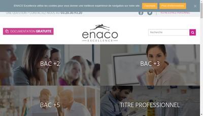 Site internet de Enaco Excellence