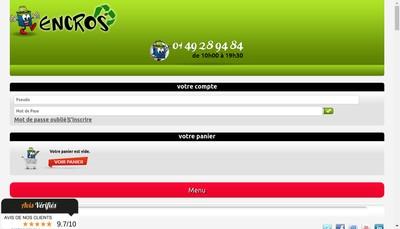 Site internet de Encros