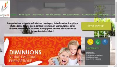 Site internet de Energical