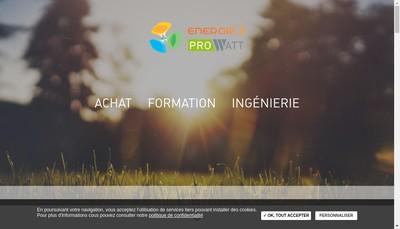 Site internet de Prowatt