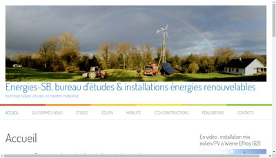 Site internet de Energies-Sb