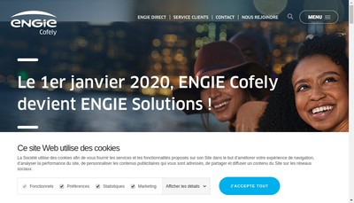 Site internet de Cofely Finance & Investissement