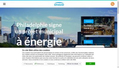 Site internet de Engie Finance
