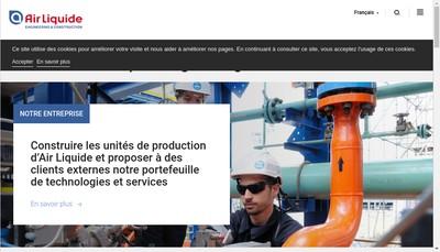 Site internet de Air Liquide Global E&C Solutions France