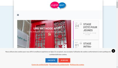 Site internet de English Apart