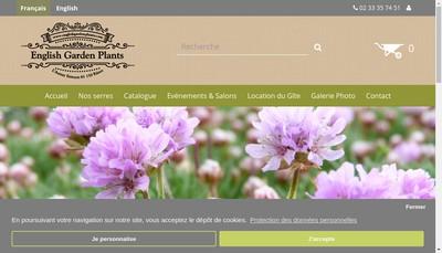 Site internet de The Flower Basket