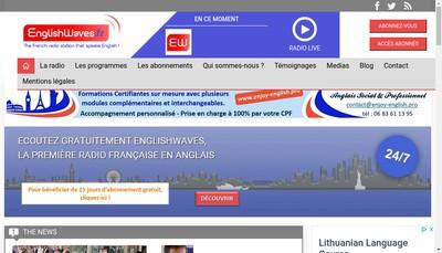 Site internet de Englishwaves