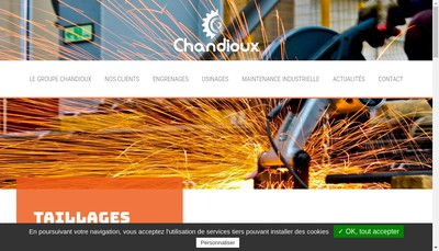 Site internet de Etablissements Chandioux - Engrenages et Transmissions