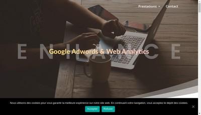 Site internet de Enhance Digital