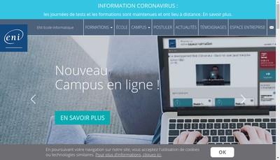 Site internet de Eni Ecole