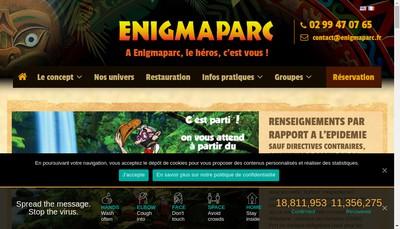 Site internet de Enigmaparc