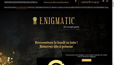 Site internet de Enigmatic Live Escape Game
