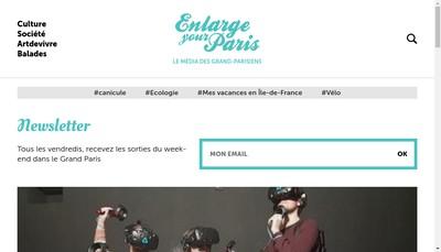 Site internet de Enlarge Your Paris