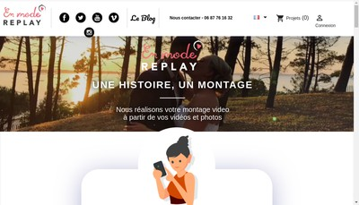 Site internet de En Mode Replay