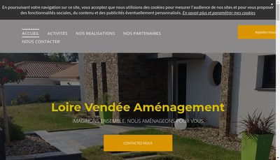 Site internet de Loire Vendee Amenagement