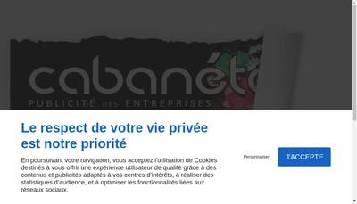 Site internet de SARL Publicite Cabanetos