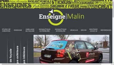 Site internet de Enseigne Malin