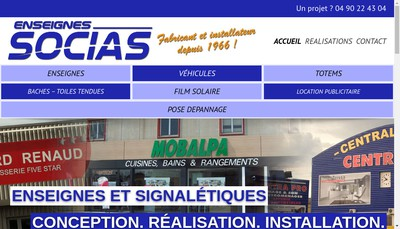Site internet de Enseignes Socias