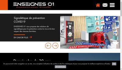 Site internet de Enseignes 01