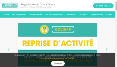 Site internet de Cote Audition