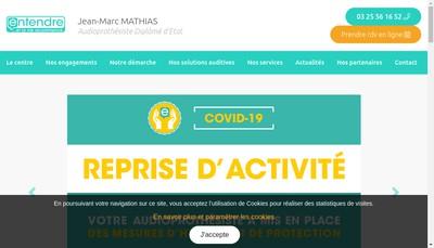 Site internet de Laboratoire Mathias