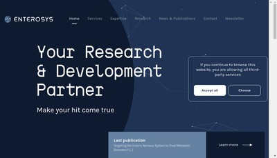 Site internet de Enrerosys