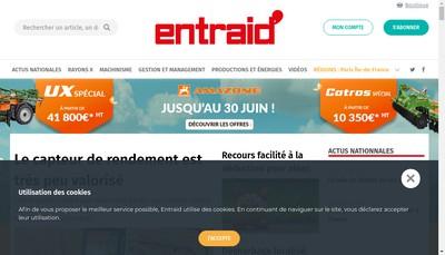 Site internet de Entraid'