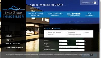 Site internet de Entre 2 Lacs Immobilier