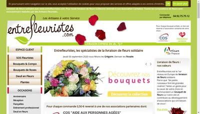 Site internet de Entrefleuristes