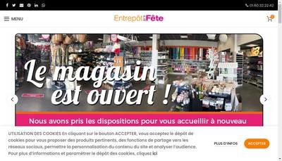 Site internet de L'Entrepot de la Fete