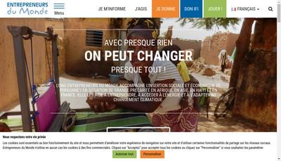 Site internet de Entrepreneurs du Monde