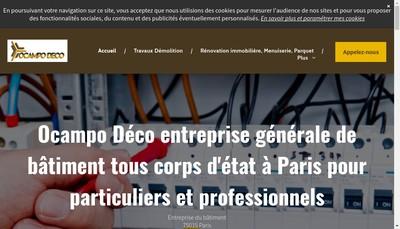 Site internet de Ocampo Deco