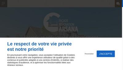 Site internet de Carsana Facade & Renovation