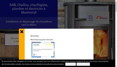Site internet de SARL Chaillou