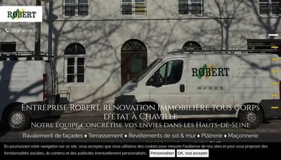 Site internet de Entreprise Robert