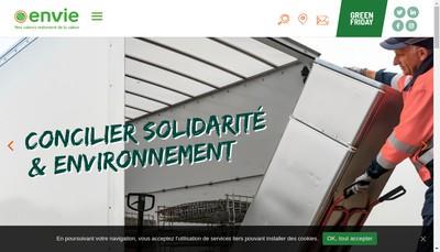 Site internet de Envie 2E le Havre
