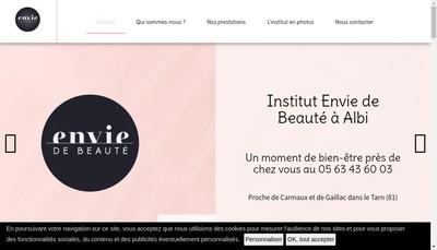 Site internet de Envie de Beaute