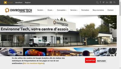 Site internet de Environne'Tech