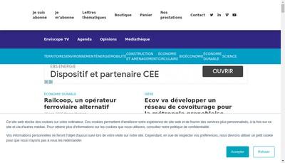 Site internet de Enviscope