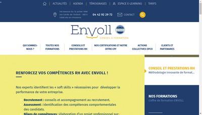 Site internet de Envoll Conseil et Formation