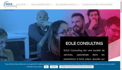 Site internet de Eole Consulting