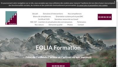 Site internet de Eolia Formation