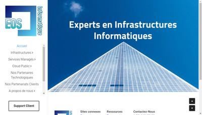 Site internet de Eos Informatique