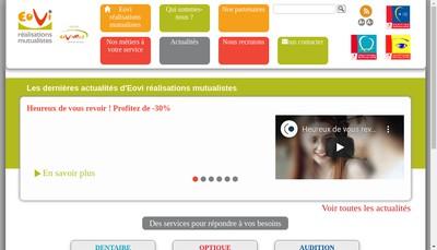Site internet de Eovi Realisations Mutualistes