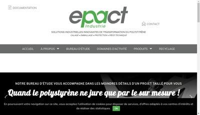 Site internet de Epact Industrie