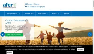 Site internet de Les Boutiques de l'Epargne