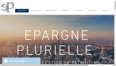 Site internet de Epargne Plurielle